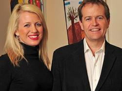 Bill Shorten and Chloe Bryce