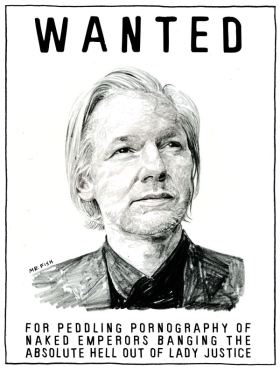 Julian Assange - Wanted Poster