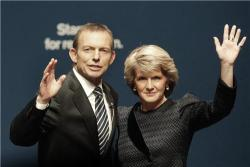 Tony Abbott and Julia Bishop