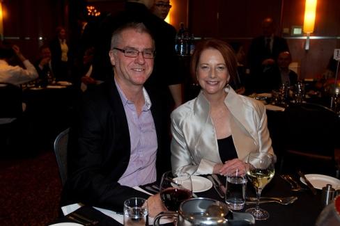 Julia Gillard and Tony Sheldon