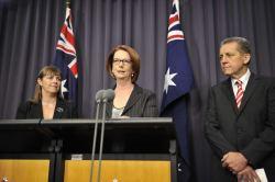 Julia Gillard Nicola Roxon Chris Evans