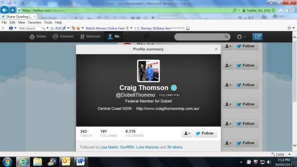 Craig Thomson Twitter