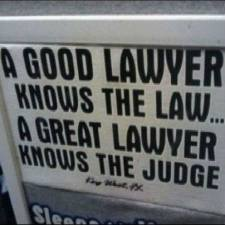 Knowing a judge