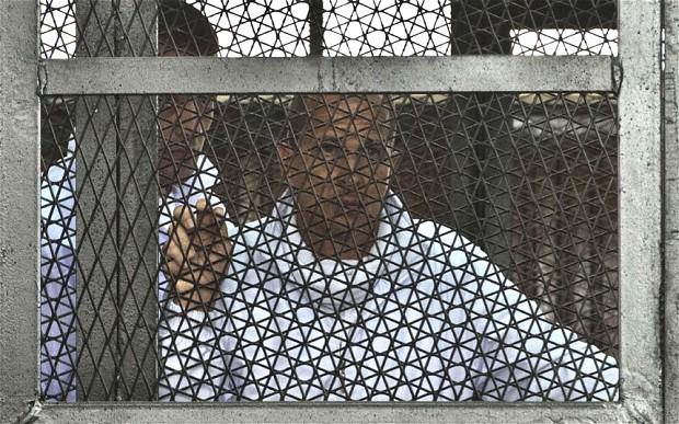 Peter Greste in jail in Egypt
