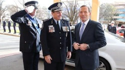 Tony Abbott and Tony Negus