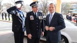 Tony Abbott and Tony Negus