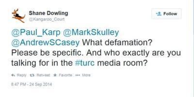 Mr Karp, what defamation
