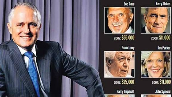 Even the well known tax cheat Kerry Stokes donated money.