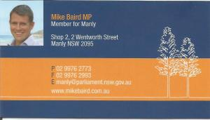 Mike Baird Business Card