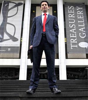 Ryan Stokes outside the National Library of Australia