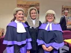 Judge Traill, A-G Gabriell Upton and Judge Girdham