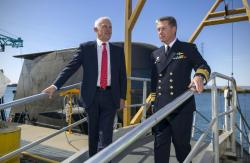 Malcom Turnbull and Vice Admiral Timothy Barrett
