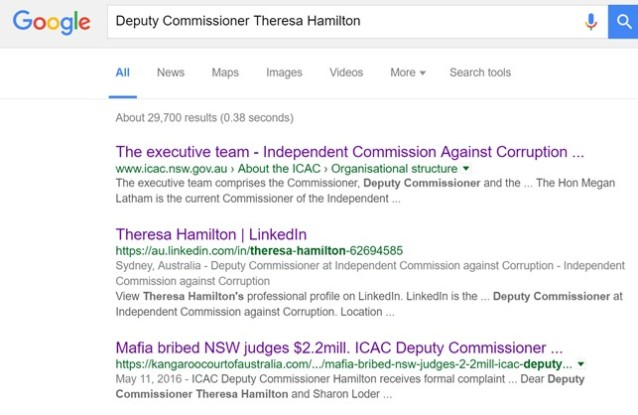 ICAC Google search