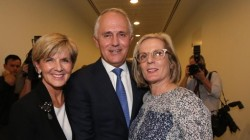 Malcolm and Lucy Turnbull and Julie Bishop