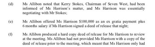 Ms Allibon to Amber Harrison