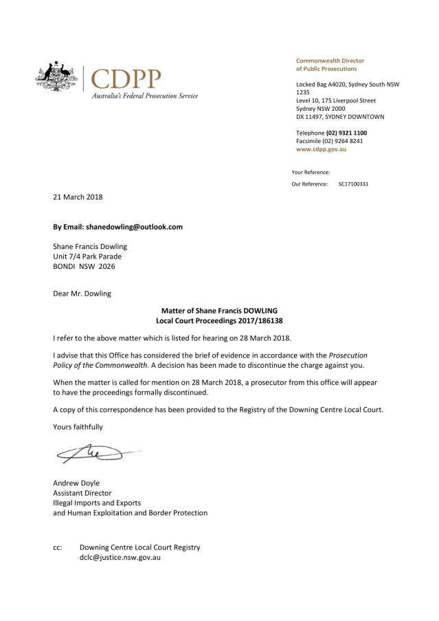 CDPP Letter